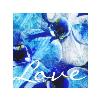 Canvas azuis da orquídea do diamante