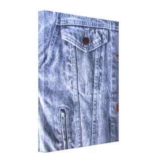 Canvas azuis do ~ da sarja de Nimes Impressão Em Tela