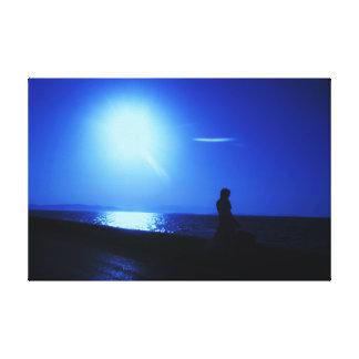 Canvas azuis do mar da fotografia das belas artes