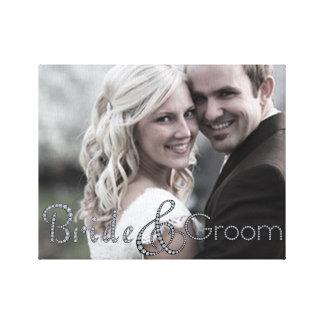 Canvas bling da foto dos noivos impressão em tela