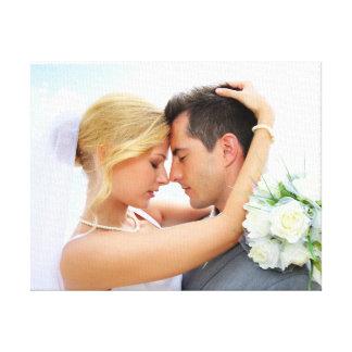 Canvas bonitos do modelo da foto DIY do casamento