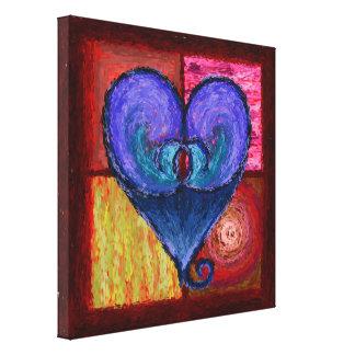 Canvas brilhanteas reais do coração
