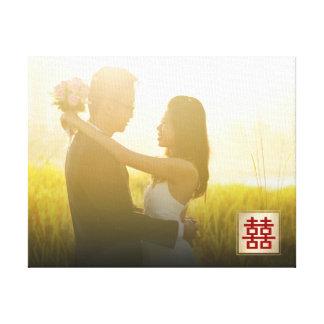 Canvas chinesas da foto do casamento da felicidade