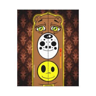 Canvas Copyright do urso do smiley face Impressão Em Tela