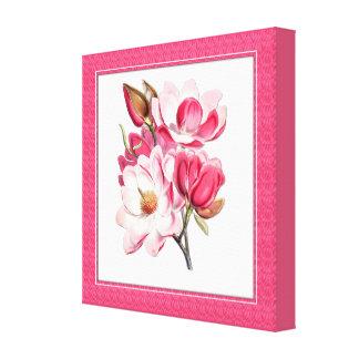 Canvas cor-de-rosa elegantes das magnólias