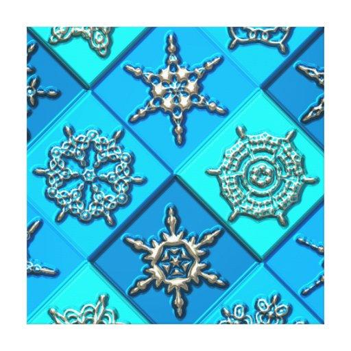 Canvas da arte 15 dos flocos de neve impressão de canvas esticadas