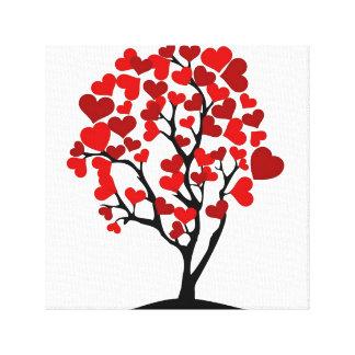 Canvas da árvore do coração