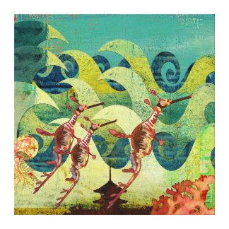 Canvas da avenida do oceano dos dragões do mar impressão em tela