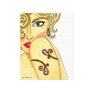 Canvas da beleza do art deco impressão de canvas envolvidas