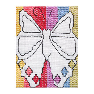 Canvas da borboleta do Crochet da arte Impressão De Canvas Esticadas