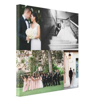 Canvas da colagem da foto do casamento com 4