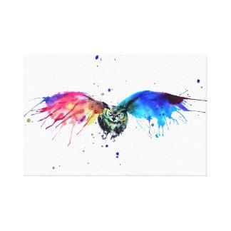 Canvas da coruja do arco-íris