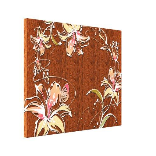Canvas da decoração 10 da flor impressão em tela canvas