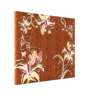 Canvas da decoração 10 da flor impressão em tela