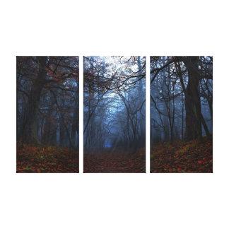 """Canvas da """"elegia"""" (Tri Painel) Impressão Em Tela"""