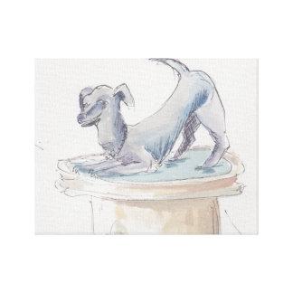 """Canvas da """"esboço aguarela/cão Londres """""""