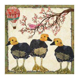 Canvas da flor de cerejeira dos ganso impressão de canvas esticada