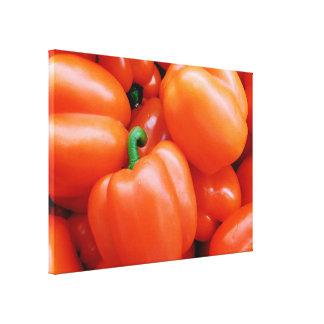 Canvas da foto das pimentas vermelhas