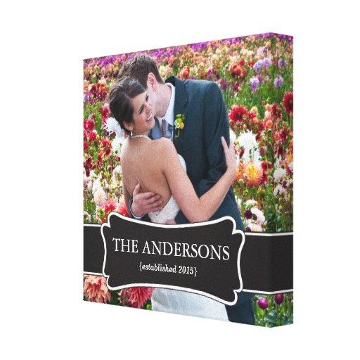 Canvas da foto do casamento impressão em canvas