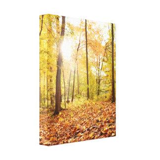 Canvas da foto do folhagem de outono impressão em tela