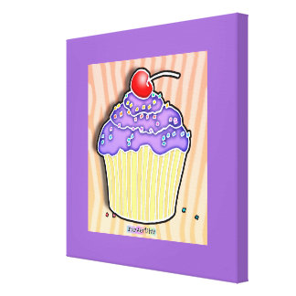 Canvas da galeria do cupcake da uva