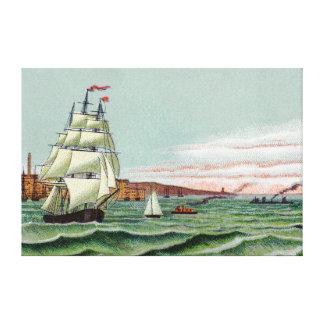 Canvas da ilha de bloco grandes impressão de canvas envolvida