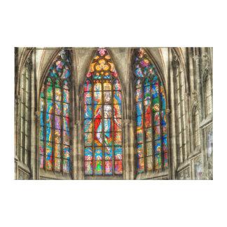 Canvas da janela da catedral de Praga St.Vitus