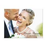 Canvas da lembrança da foto do casamento impressão de canvas esticada
