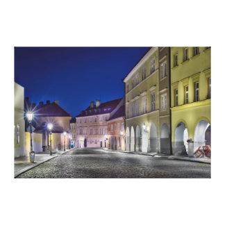 Canvas da noite da rua de Praga Ujezd