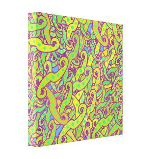 Canvas da onda do redemoinho impressão de canvas esticadas