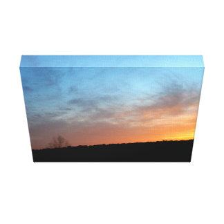 Canvas da paisagem do por do sol