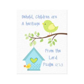 Canvas da parede do verso da bíblia impressão em tela