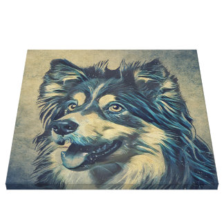 Canvas da pintura do Sheepdog de Shetland