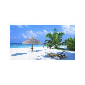 Canvas da praia do paraíso impressão de canvas envolvida