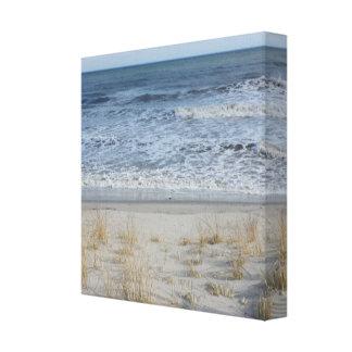 Canvas da praia impressão em tela
