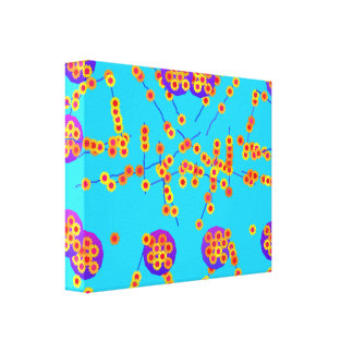 Canvas da roda de margarida impressão de canvas envolvida