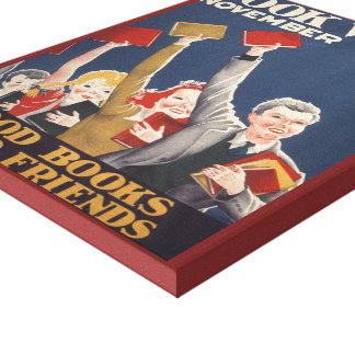Canvas da semana de livro de 1940 crianças