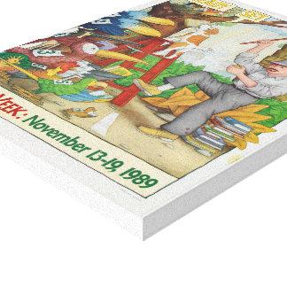 Canvas da semana de livro de 1989 crianças