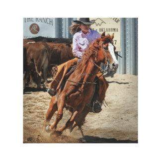 canvas da vaqueira do rodeio