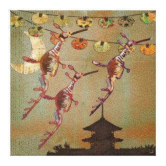 Canvas da viagem do luar dos dragões do mar impressão em tela