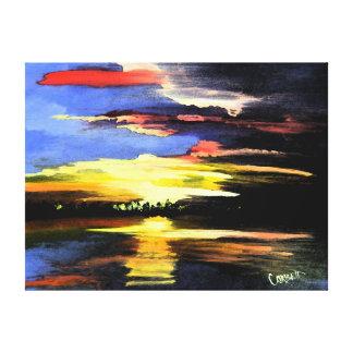 Canvas das belas artes do nascer do sol