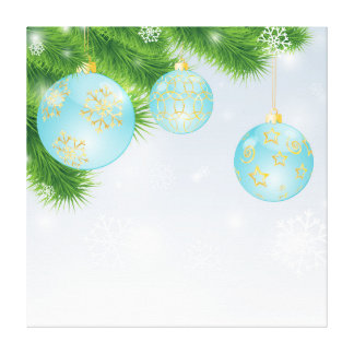 Canvas das bolas do Natal Impressão Em Tela