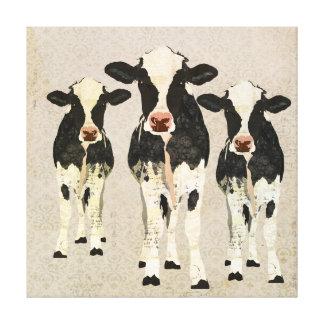 Canvas das vacas do ônix & do marfim impressão de canvas envolvidas