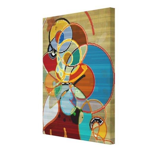 Canvas de arte abstracta impressão em tela