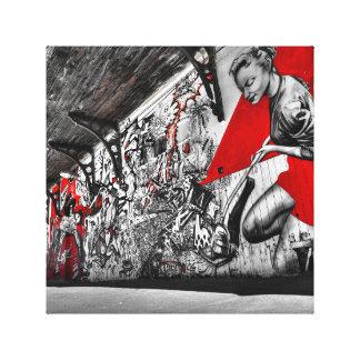Canvas de arte americanas dos grafites da beleza