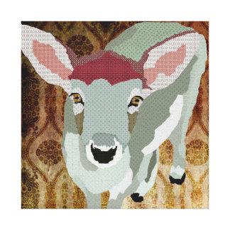 Canvas de arte amigáveis do vintage da jovem corça impressão em tela
