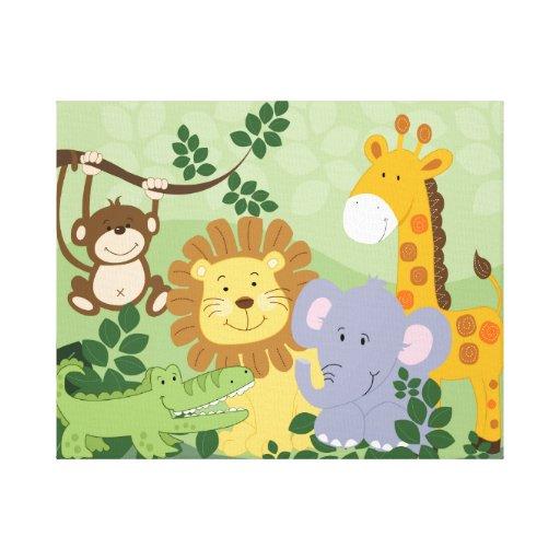 Canvas De Arte Animais 16x20 Do Berçário Do Safari