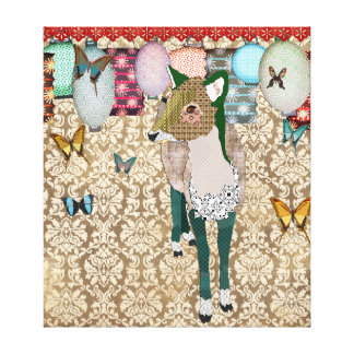 Canvas de arte asiáticas enfadados dos cervos impressão em tela canvas