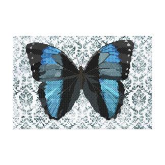 Canvas de arte azuis da borboleta de Boho Impressão De Canvas Envolvida
