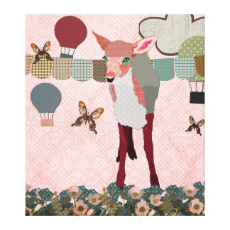 Canvas de arte cor-de-rosa bonito da raça do balão impressão de canvas esticada